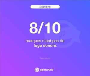 Statistique : 8 marques sur 10 n'ont pas de logo sonore