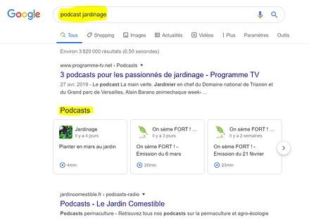 Les podcasts sont désormais favorisés dans les résultats de google. Une opportunité SEO pour les marques.
